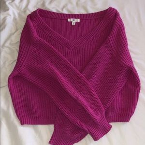 Hot pink sweater from Nordstrom